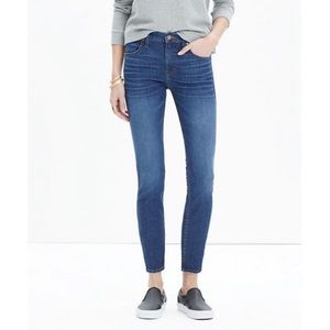 Madewell High Riser Skinny Crop Jeans in Bayview